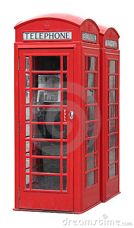 Free Classic English Phone Booth Stock Image - 1091351