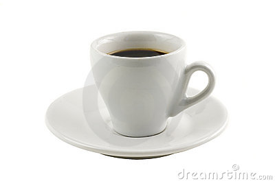 Classic espresso cup isolated on white