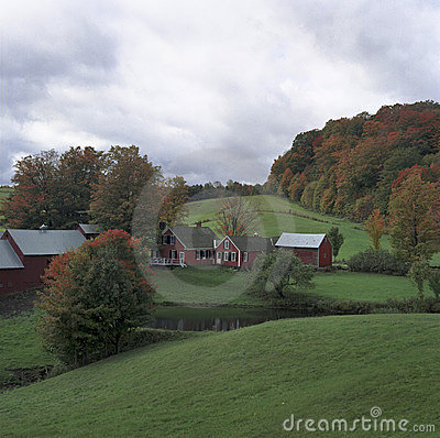 Classic Farm in Fall