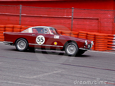 Classic Ferrari on the track Editorial Photo