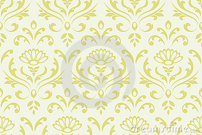 Classic floral seamless background.