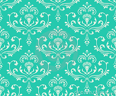 Classic floral seamless ornate background. Vector Illustration