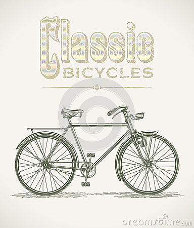 Classic gentlemans bicycle