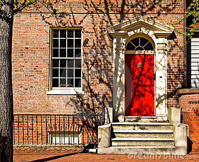 Classic Georgian Door - Red