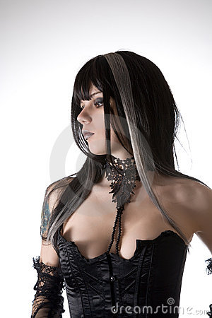 Free Classic Gothic Girl Portrait Stock Images - 14490454