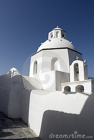 Classic greek island church