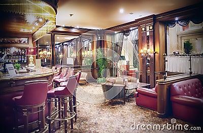 Classic hotel bar