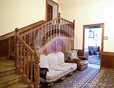 Classic hotel lounge