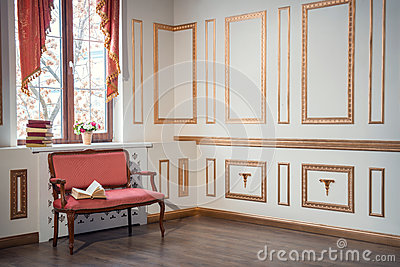 Classic Interior With Barocco Couch Stock Photo Image 49110666