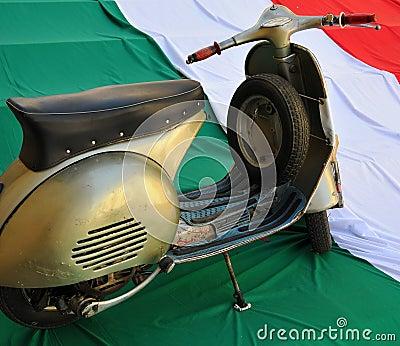 Classic italian style Vespa