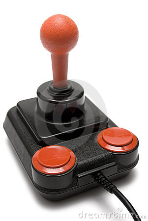 Free Classic Joystick (Front Side View) Royalty Free Stock Image - 615856