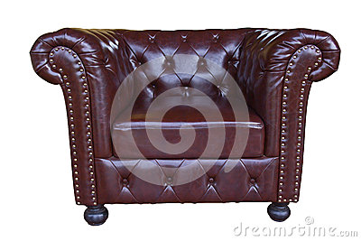 Classic and Luxurious armchair with clipping path
