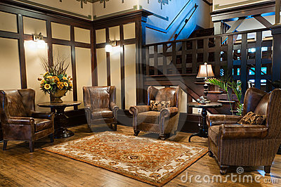 Classic Luxury Hotel Lobby