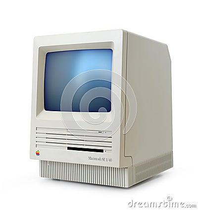 Classic Mac SE Editorial Stock Photo