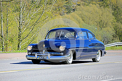 Classic mercury car on the road editorial stock image for Ford motor company credit card