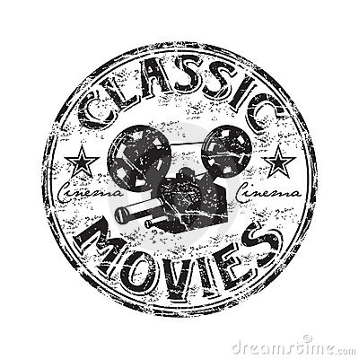 Free Classic Movies Rubber Stamp Royalty Free Stock Photography - 12384807
