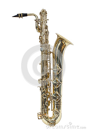 Free Classic Musical Instrument, The Baritone Saxophone Isolated On White Background Stock Photography - 79934122