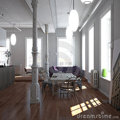 Free Classic New-York Loft Stock Images - 5682604