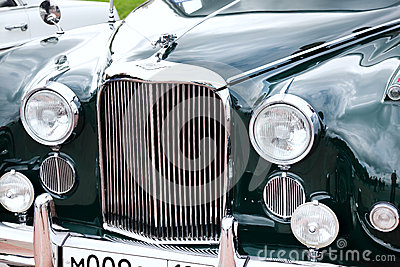 Classic old car close-up front view Editorial Photography
