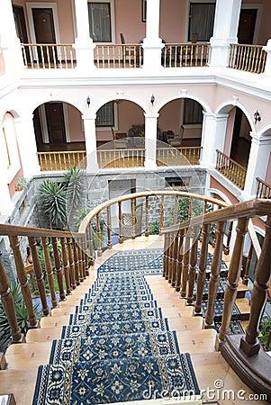 Classic old hotel quito ecuador