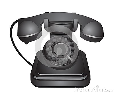 Classic old telephone