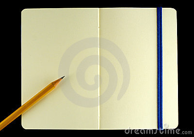 Classic Opened Moleskine Note Book Stock Photography - Image: 7357382