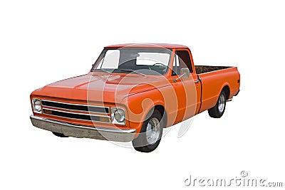 Classic orange truck