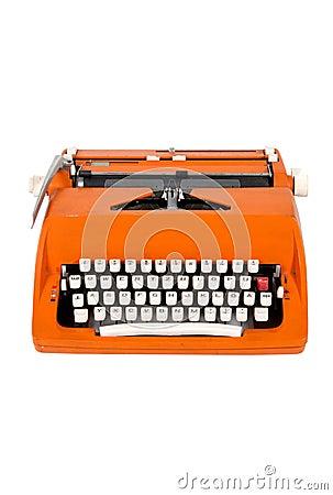 Classic orange typewriter