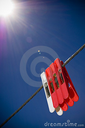 Free Classic Pegs In Sun Royalty Free Stock Photo - 14254185