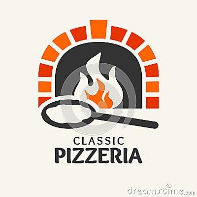 Classic Pizzeria logotype Vector Illustration