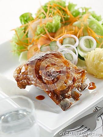 Classic pork ribs