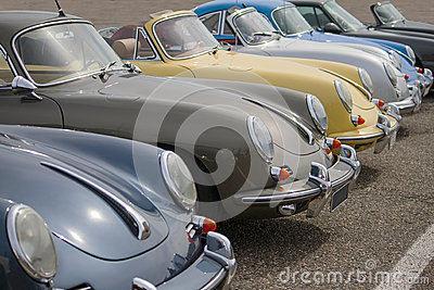 Classic Porsches Editorial Stock Photo