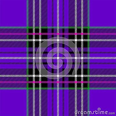 Classic purple tartan