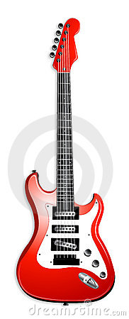 Classic Red Electric Guitar Illustration