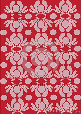 Classic red floral background
