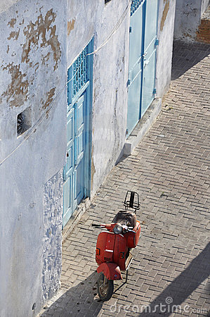 Classic red scooter