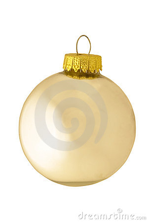 Classic reflective silver christmas ornament