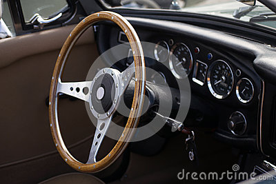 Classic retro car dashboard