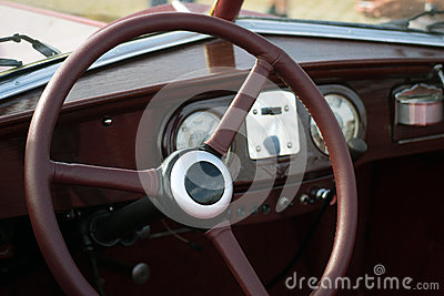 Classic retro car dashboard