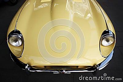 Classic retro car hood