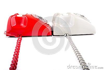 Classic 1970 - 1980 retro dial style telephones