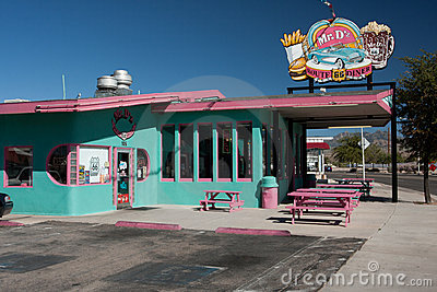 Classic route 66 diner Editorial Photo