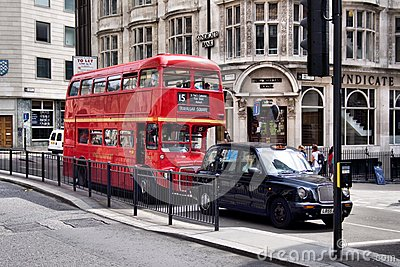 Classic routemaster double decker bus Editorial Stock Photo