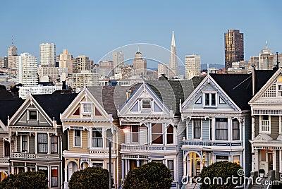 Classic San Francsisco Postcard Row View