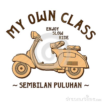 Free Classic Scooter Vector Of My Own Class Royalty Free Stock Images - 144898059