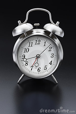 Classic silver alarm clock
