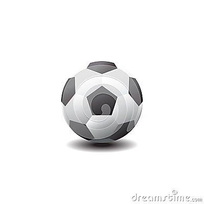 Classic soccer ball. Football icon. Vector illustration Vector Illustration
