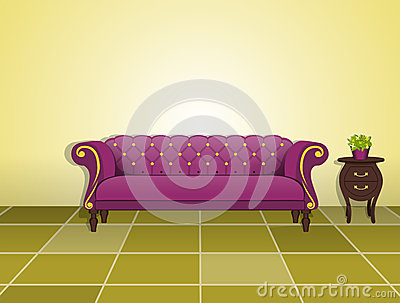 Classic sofa and coffee table