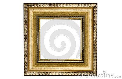 Classic square golden frame