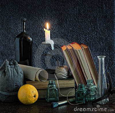Classic Still Life with Candle